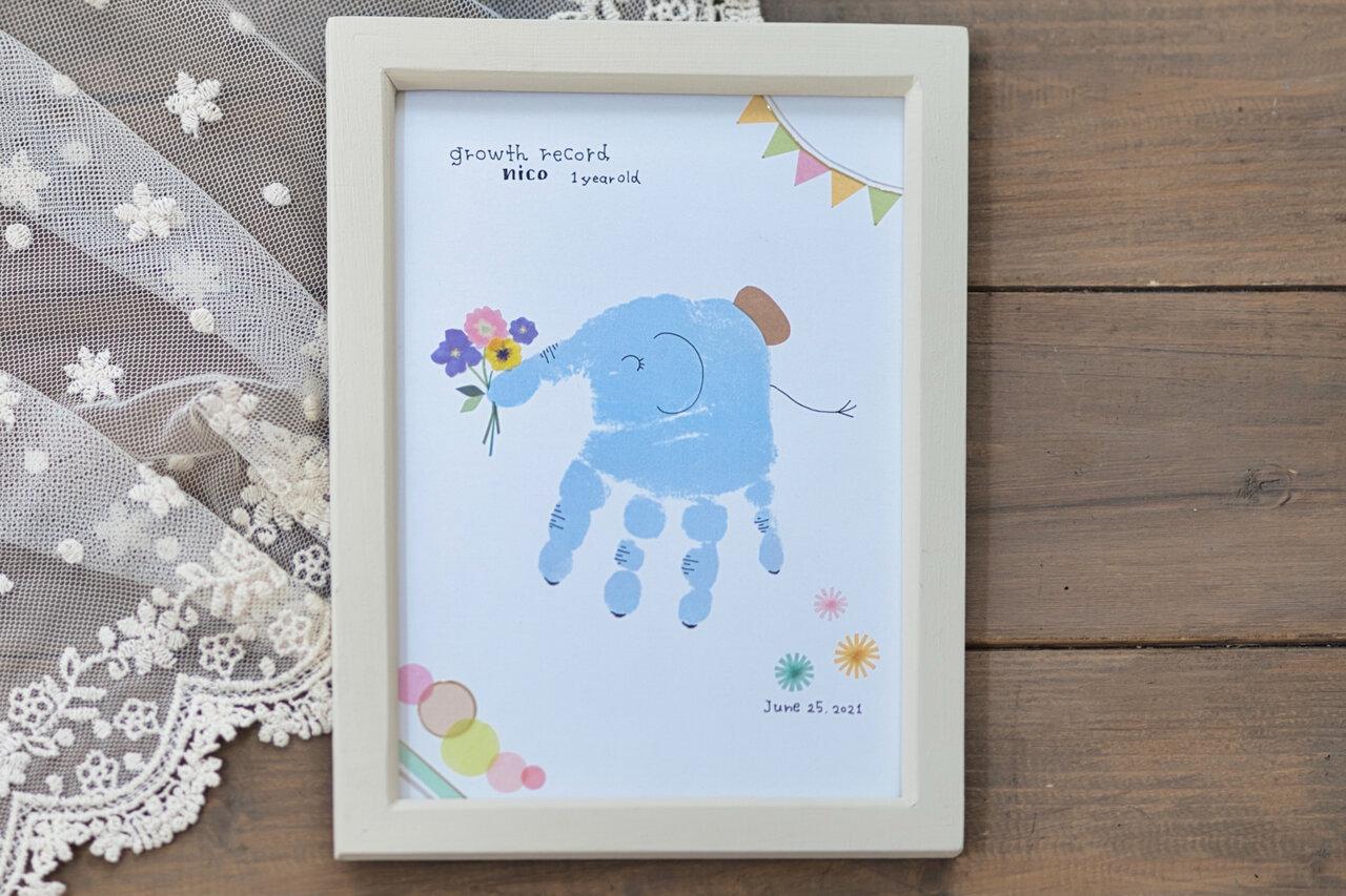 子どもの「手形」でゾウさんができちゃった!