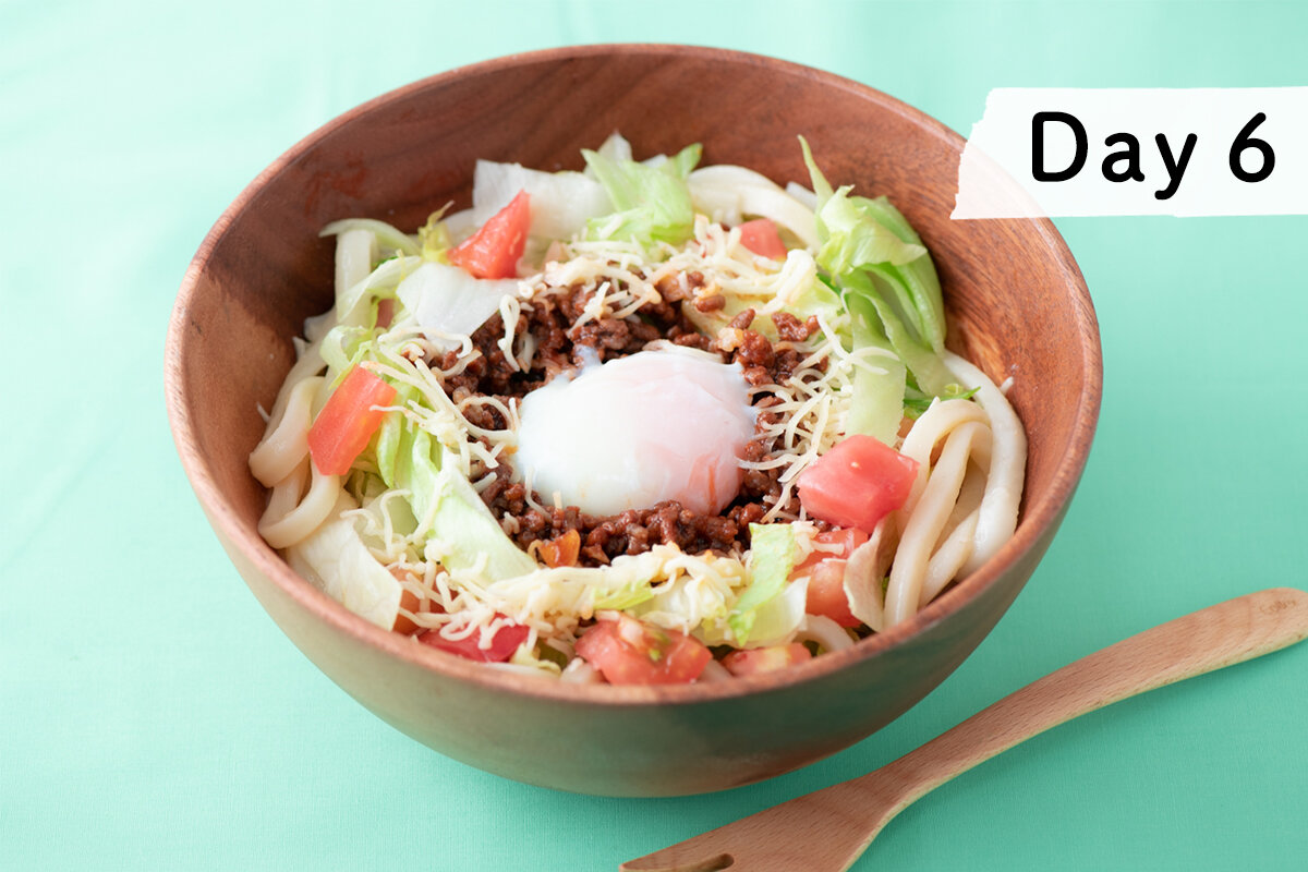 毎日公開!〔夏麺レシピ30〕6杯目 タコミートうどん