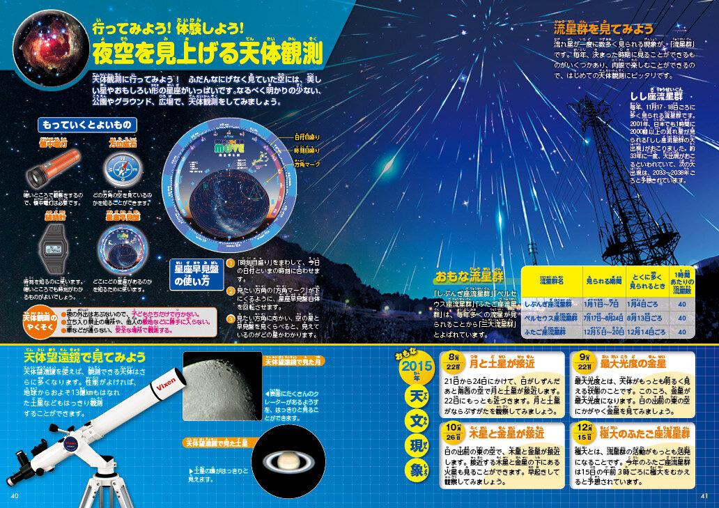 夜空を見上げる天体観測