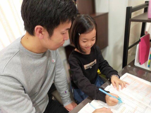 緊急事態宣言下につき、咲耶さんの通学が1日おきに。その時間をうまく利用して、親子での合格までたどり着いた。
