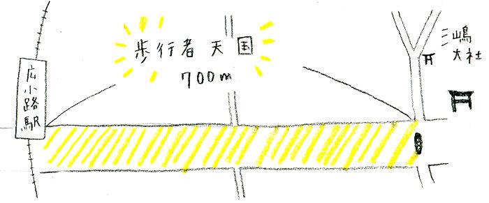 """<span class=""""color-picker"""" style=""""color: rgb(91, 91, 91);"""">広小路駅から三島大社まで長い歩行者天国になります  えがしらみちこ 「はじめました えほんやさん」第10回</span>"""