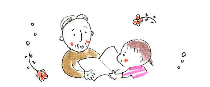 "<span class=""color-picker"" style=""color: rgb(91, 91, 91);"">お父さんやおじいちゃんと一緒に絵本</span>"