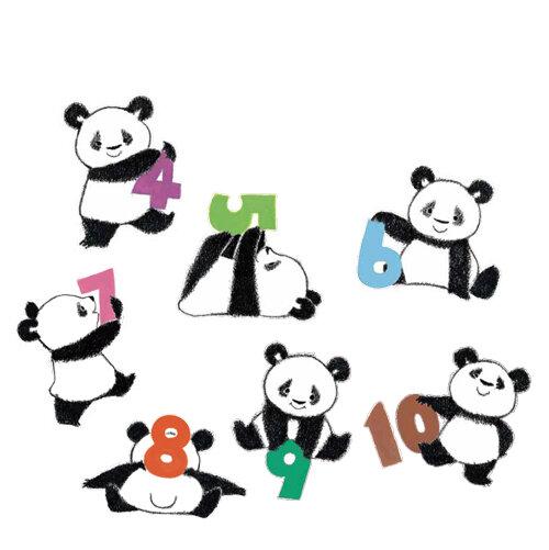 """<small class=""""font-small"""">裏表紙のパンダたちもしっかり見せてあげてくださいね。 『パンダかぞえたいそう』より</small>"""