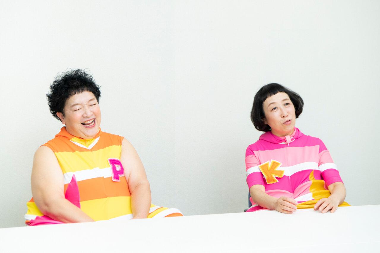 「ケロ」こと増田裕子さん(右)と、「ポン」こと平田明子さん(左)<br> 撮影 森﨑一寿美
