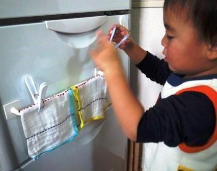 大きい洗濯ばさみも開ける 2歳6ヵ月