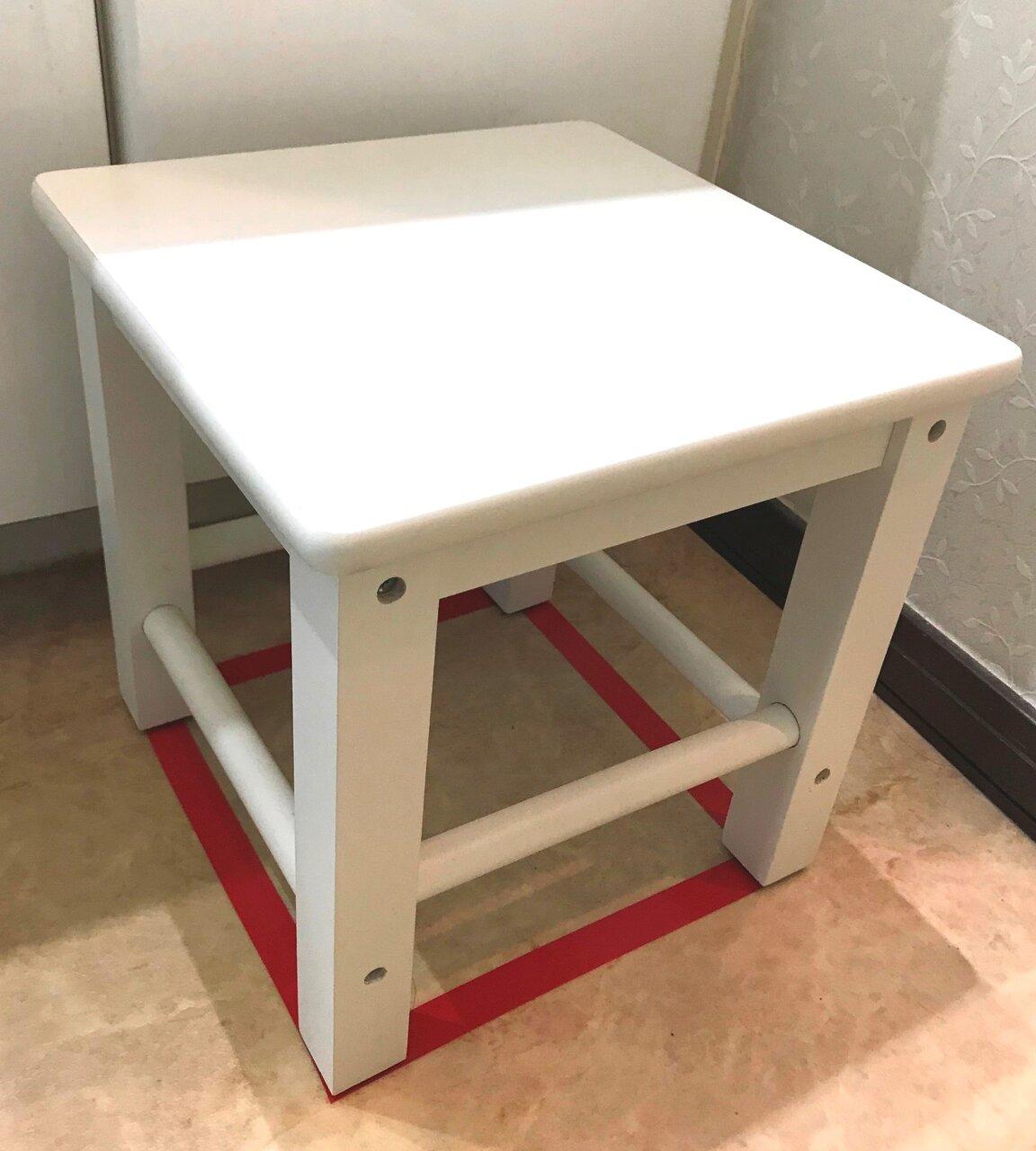 踏み台と、置く位置の印の例