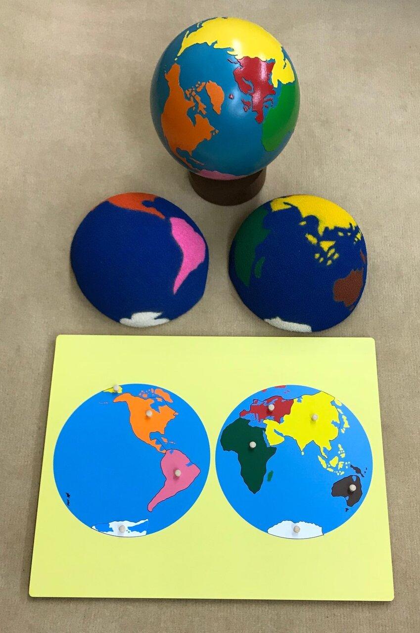 地球から大陸へ 球体→半球→平面へという流れ