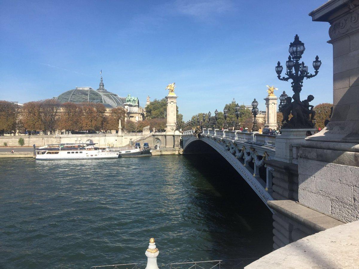 パリ市内を流れるセーヌ川。アレクサンドル3世橋。  写真提供:ダヴィエ佐知子