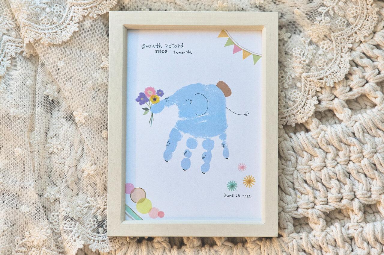 手形アートは子どもの成長の記録にもぴったり!  撮影:瀬野未知