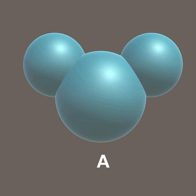 Aのふり輪でできるシャボン玉。CG製作:YKMS