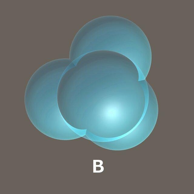 Bのふり輪でできるシャボン玉。CG製作:YKMS